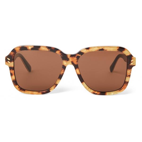 Stella McCartney - Leopard Square Sunglasses - Leopard - Sunglasses - Stella McCartney Eyewear