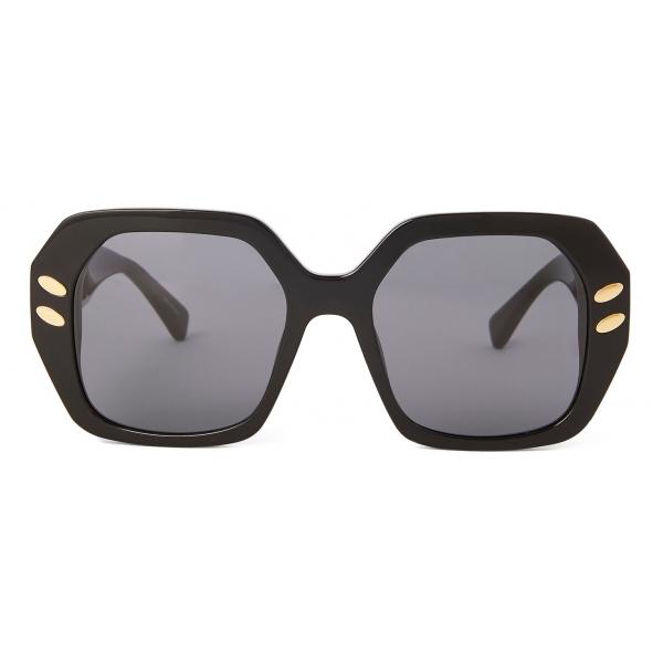Stella McCartney - Shiny Black Geometric Sunglasses - Shiny Black - Sunglasses - Stella McCartney Eyewear
