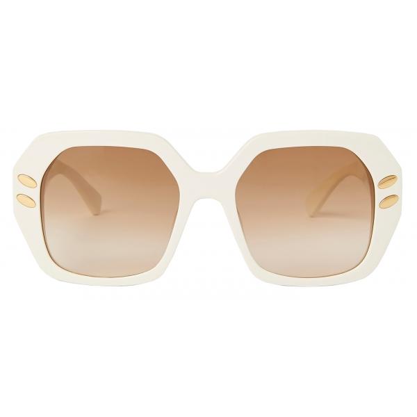 Stella McCartney - Brown Geometric Sunglasses - Brown - Sunglasses - Stella McCartney Eyewear
