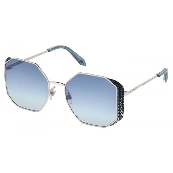 Swarovski - Occhiali da Sole Fluid - SK0274-P-H 16C - Blu - Occhiali da Sole - Swarovski Eyewear