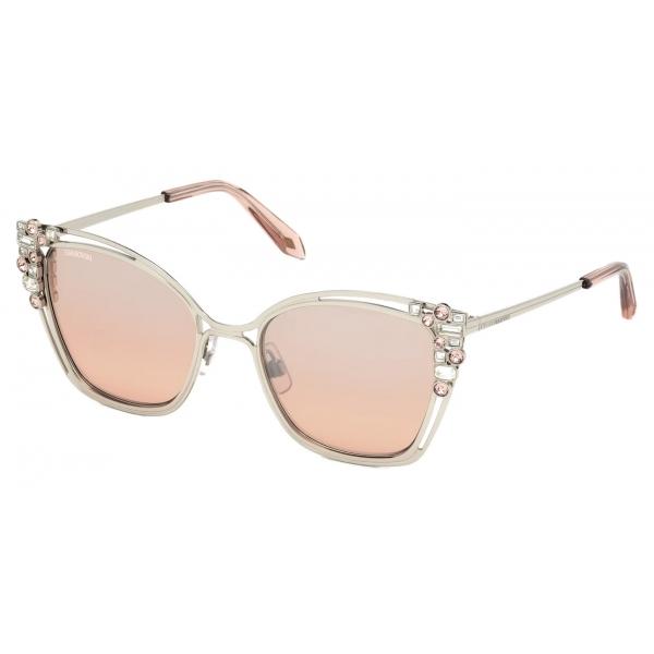 Swarovski - Occhiali da Sole Moselle Mask - SK160-P 16A - Grigio - Occhiali da Sole - Swarovski Eyewear