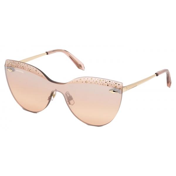 Swarovski - Occhiali da Sole Nile Square - SK161-P 01B - Nero - Occhiali da Sole - Swarovski Eyewear