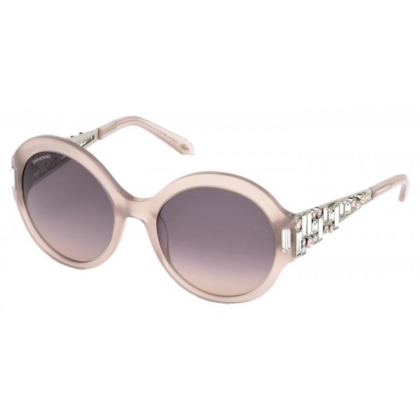 Swarovski - Fluid Cat Eye Sunglasses - SK0272-P - Black - Sunglasses - Swarovski Eyewear