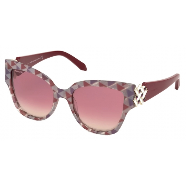 Swarovski - Fluid Mask Sunglasses - SK236-P 16B - Black - Sunglasses - Swarovski Eyewear