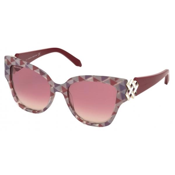Swarovski - Occhiali da Sole Fluid Mask - SK236-P 16B - Nero - Occhiali da Sole - Swarovski Eyewear