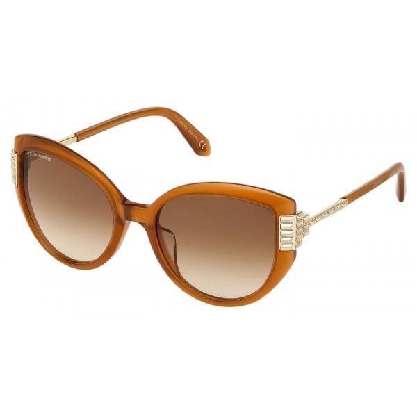Swarovski - Fluid Square Sunglasses - SK237-P 36F - Brown - Sunglasses - Swarovski Eyewear