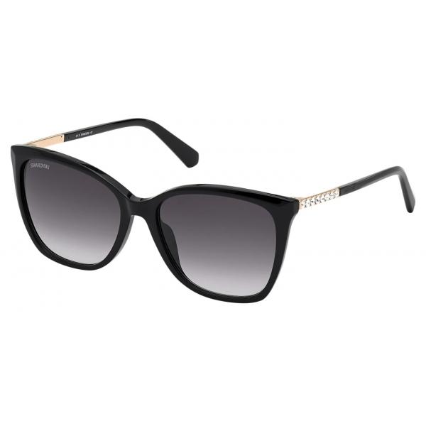 Swarovski - Occhiali da Sole Fluid Cat Eye - SK0272-P - Marrone - Occhiali da Sole - Swarovski Eyewear