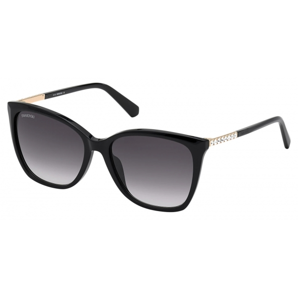 Swarovski - Fluid Cat Eye Sunglasses - SK0272-P - Brown - Sunglasses - Swarovski Eyewear