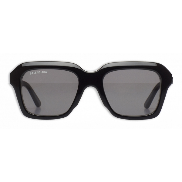 Balenciaga - Rim Rectangle Sunglasses Adjusted Fit - White - Sunglasses - Balenciaga Eyewear