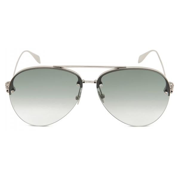 Alexander McQueen - Occhiale da Sole Top Piercing - Nero Fumo - Alexander McQueen Eyewear