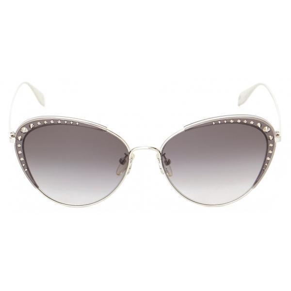 Alexander McQueen - Butterfly Jewelled Sunglasses - Gold Light Blue - Alexander McQueen Eyewear