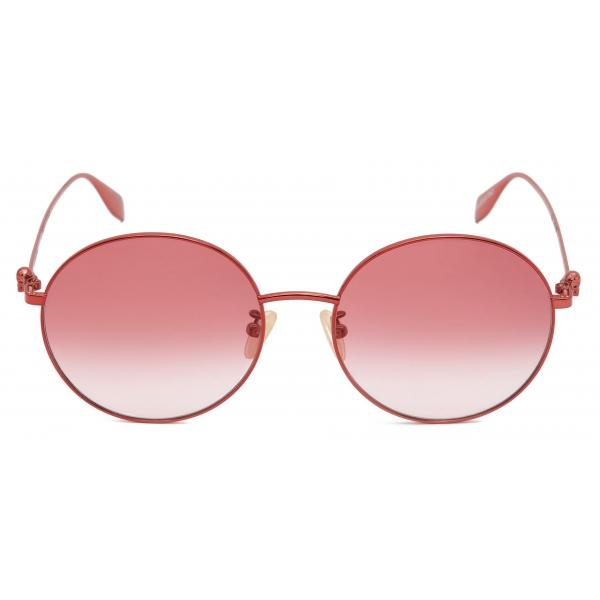 Alexander McQueen - Occhiale da Sole Cat-Eye con Lenti Borchiate - Grigio Argento - Alexander McQueen Eyewear