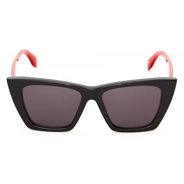 Alexander McQueen - Occhiale da Sole Rotondi Light Skull - Rosso - Alexander McQueen Eyewear