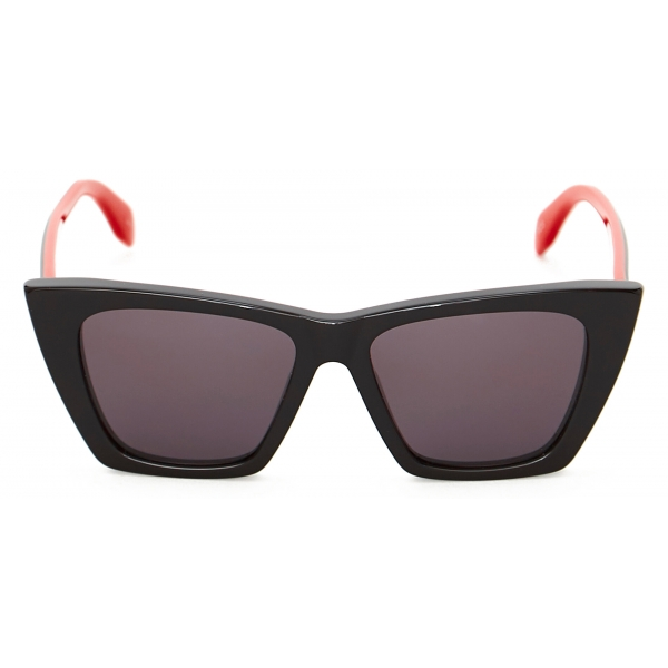 Alexander McQueen - Light Skull Round Sunglasses - Red - Alexander McQueen Eyewear