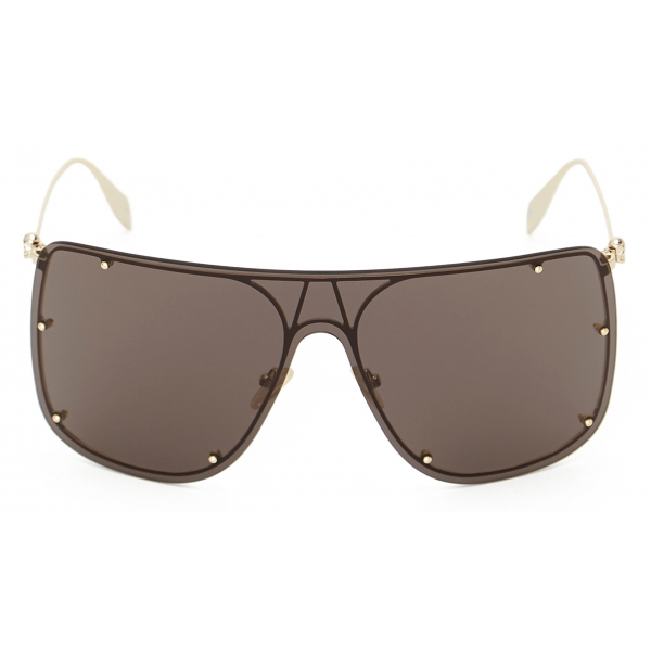 Alexander McQueen - Occhiale da Sole Cat-Eye Selvedge - Nero Rosso - Alexander McQueen Eyewear
