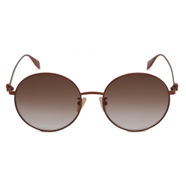 Alexander McQueen - Skull Mask Sunglasses - Gold Grey - Alexander McQueen Eyewear