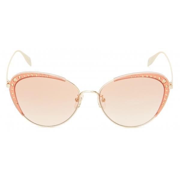 Alexander McQueen - Occhiali da Sole Rotondi con Teschio Leggero - Marrone - Alexander McQueen Eyewear