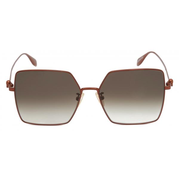 Alexander McQueen - Occhiali da Sole Cat-Eye con Lenti Borchiate - Oro Chiaro - Alexander McQueen Eyewear
