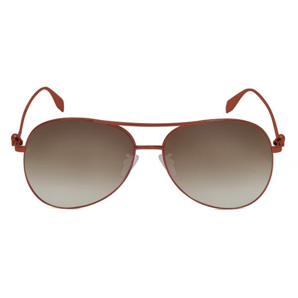 Alexander McQueen - Occhiali da Sole in Acetato con Gioielli Spider - Nero Grigio - Alexander McQueen Eyewear