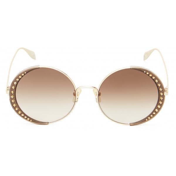 Alexander McQueen - Occhiali da Sole Quadrati Court - Nero Grigio - Alexander McQueen Eyewear
