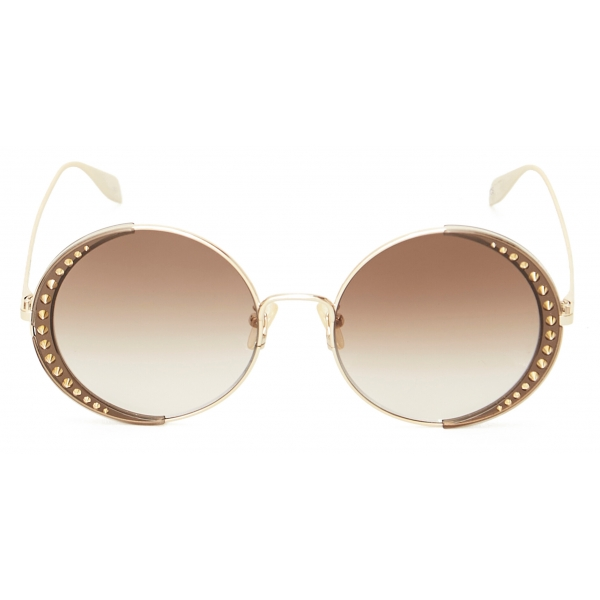 Alexander McQueen - Court Square Sunglasses - Black Grey - Alexander McQueen Eyewear