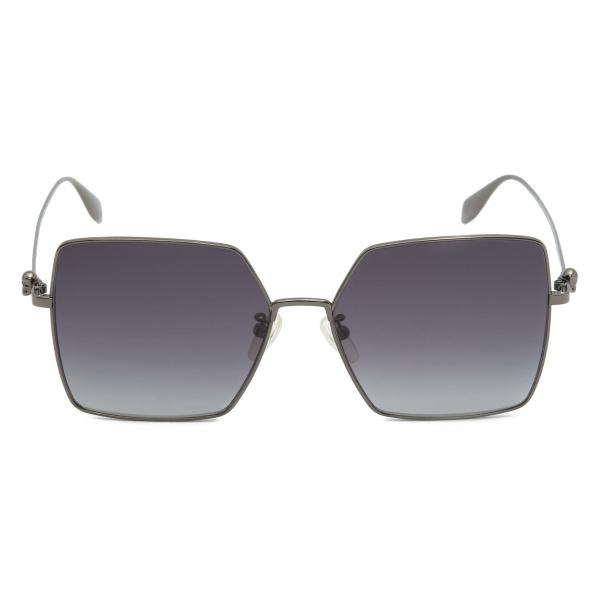 Alexander McQueen - Studded Lens Round Sunglasses - Gold Brown - Alexander McQueen Eyewear