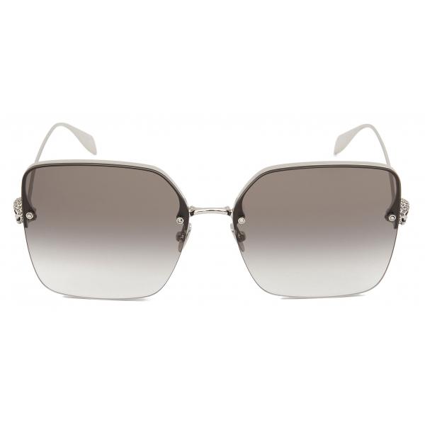 Alexander McQueen - Light Skull Square Sunglasses - Ruthenium Grey - Alexander McQueen Eyewear