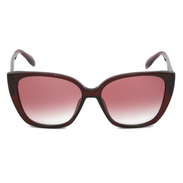 Alexander McQueen - Occhiali da Sole Quadrati Skull Jeweled - Nero Oro - Alexander McQueen Eyewear