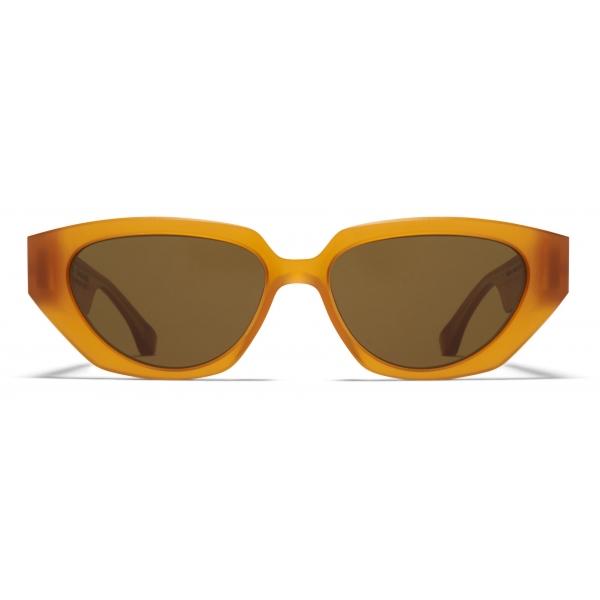 Mykita - MMRAW014 - Mykita & Maison Margiela - Amber Brown - Acetate Collection - Sunglasses - Mykita Eyewear