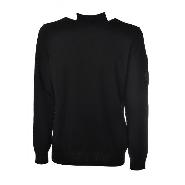 C.P. Company - Pullover Girocollo di Lana Pettinata - Antracite - Maglia - Luxury Exclusive Collection