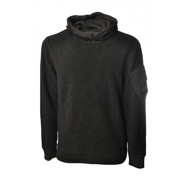 C.P. Company - Hooded Sweatshirt with Pocket - Black - Sweater - Luxury Exclusive Collection