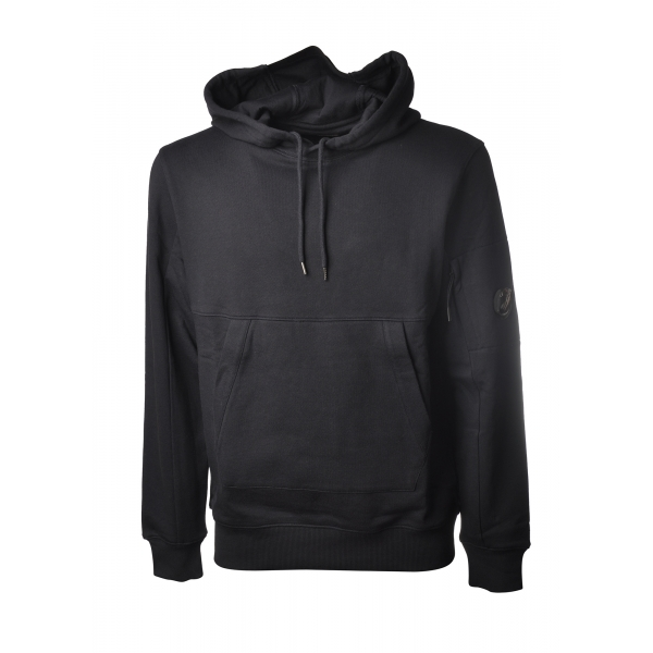 C.P. Company - Hooded Sweatshirt with Front Pocket - Blue - Sweater - Luxury Exclusive Collection
