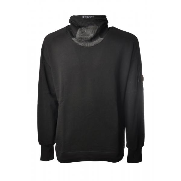 C.P. Company - High Neck Sweatshirt - Black - Sweater - Luxury Exclusive Collection