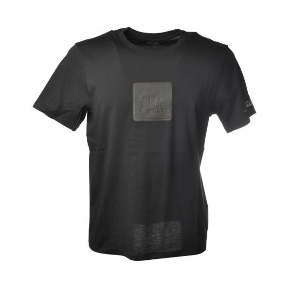 C.P. Company - T-Shirt con Riquadro Gommato - Nero - Maglia - Luxury Exclusive Collection