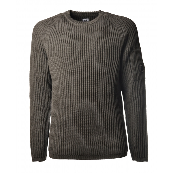 C.P. Company - Crewneck Pullover with Raglan Sleeve - Gray - Sweater - Luxury Exclusive Collection
