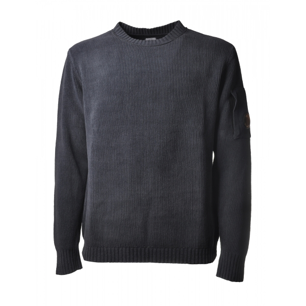 C.P. Company - Chenille Crewneck Pullover - Blue - Sweater - Luxury Exclusive Collection