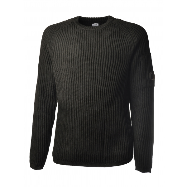C.P. Company - Crewneck Pullover with Raglan Sleeve - Black - Sweater - Luxury Exclusive Collection