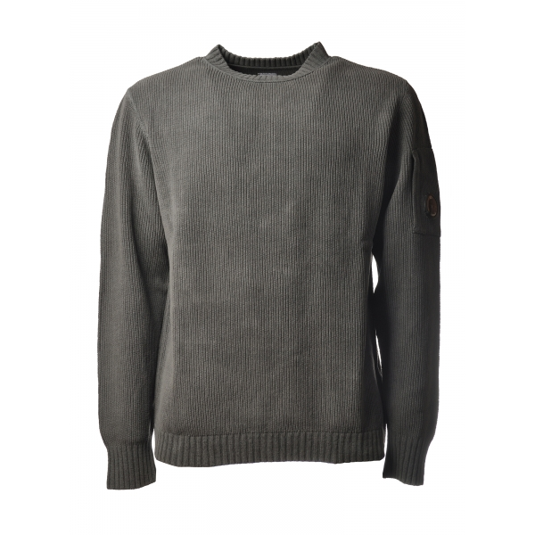 C.P. Company - Chenille Crewneck Pullover - Grey - Sweater - Luxury Exclusive Collection