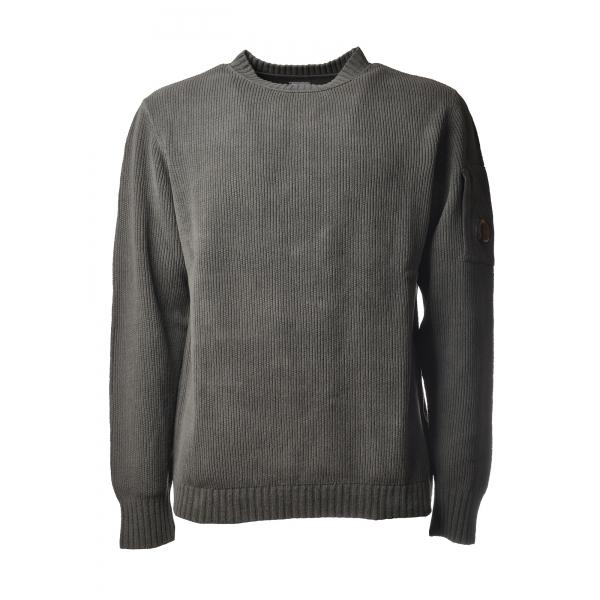C.P. Company - Pullover Girocollo Ciniglia - Grigio - Maglia - Luxury Exclusive Collection