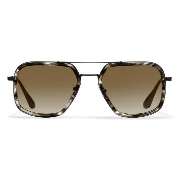 Prada - Prada Game Collection - Occhiali Rettangolare - Nero Ocra - Prada Collection - Prada Eyewear