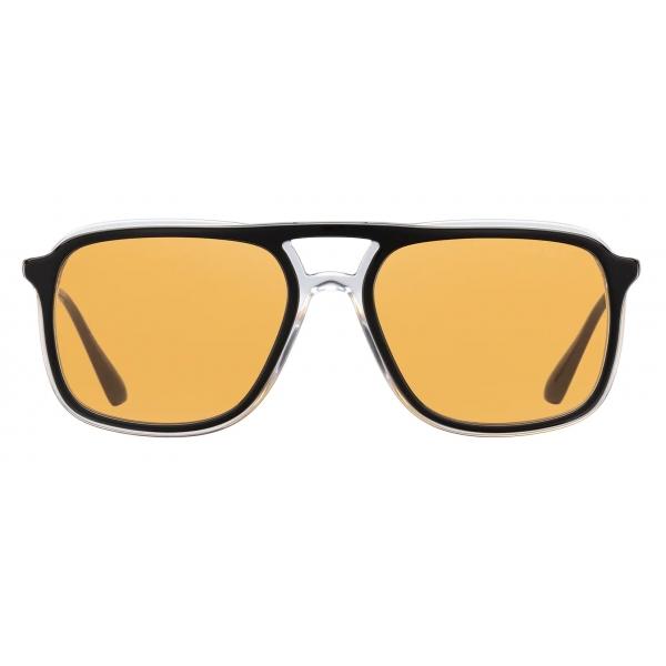 Prada - Prada Game Collection - Occhiali Rettangolare - Nero Tartaruga - Prada Collection - Prada Eyewear