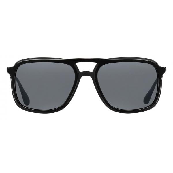 Prada - Prada Game - Rectangular Sunglasses - Black - Prada Collection - Sunglasses - Prada Eyewear