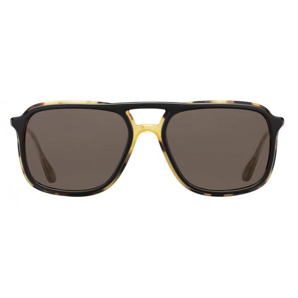 Prada - Prada Game - Rectangular Sunglasses - Black Tortoiseshell - Prada Collection - Sunglasses - Prada Eyewear