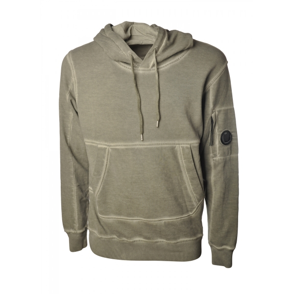 C.P. Company - Hooded Sweatshirt - Military Green - Luxury Exclusive Collection
