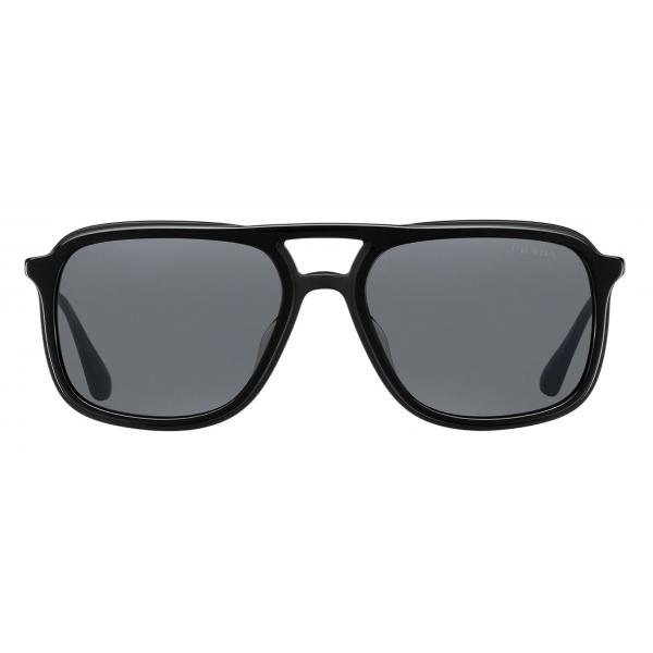 Prada - Prada Game Collection - Occhiali Rettangolare Alternative Fit - Nero - Prada Collection - Prada Eyewear