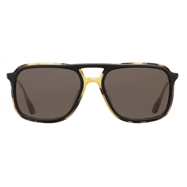 Prada - Prada Game Collection - Occhiali Rettangolare- Nero Tartaruga - Prada Collection - Prada Eyewear