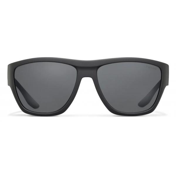 Prada - Prada Linea Rossa Impavid - Rectangular - Rubberized Gray - Prada Collection - Sunglasses - Prada Eyewear