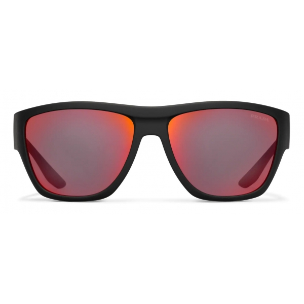 Prada - Prada Linea Rossa Impavid - Rectangular - Rubberized Black - Prada Collection - Sunglasses - Prada Eyewear