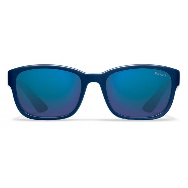 Prada - Prada Linea Rossa Impavid - Rectangular - Baltic Blue - Prada Collection - Sunglasses - Prada Eyewear