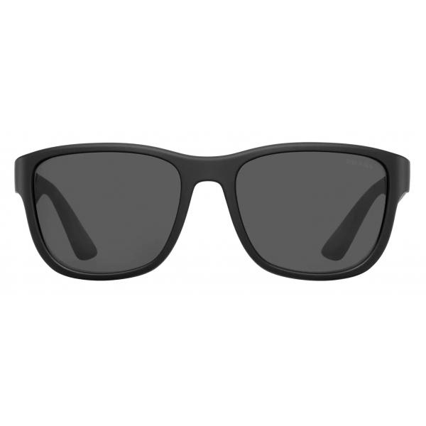 Prada - Prada Linea Rossa Flask - Rectangular - Black - Prada Collection - Sunglasses - Prada Eyewear